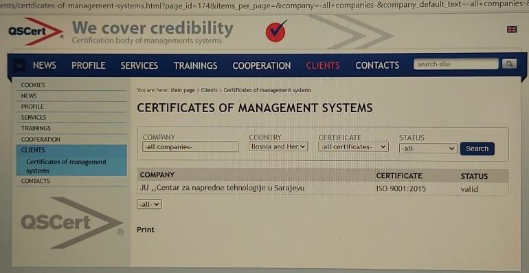 Implementiran ISO 9001